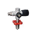 Cross design filling valve without pressure gauge